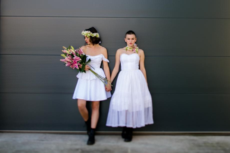 Hochzeitsfotos Zwei Bräute in Dresden