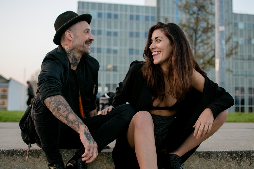 punkiges Hipsterpaar in Berlin