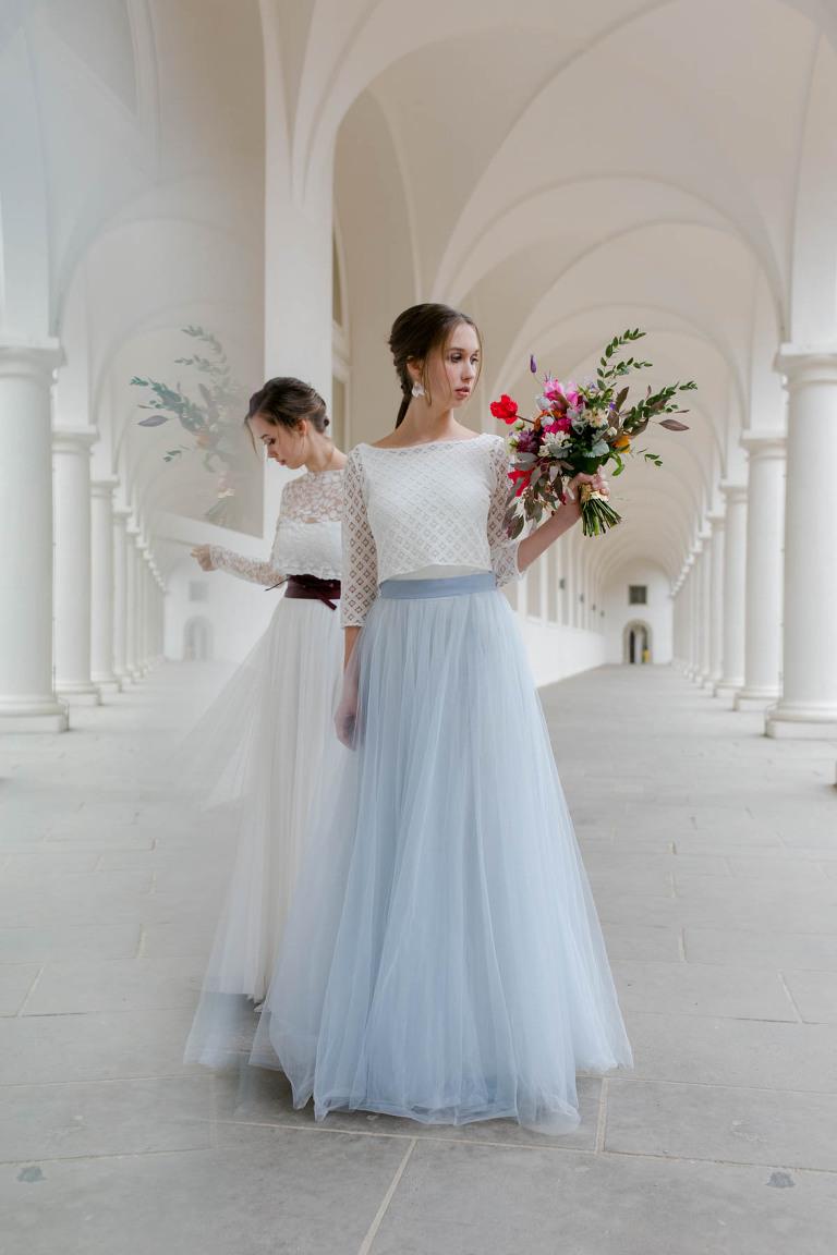 Brautmode-Shooting vom Hochzeitsfotograf in Dresden