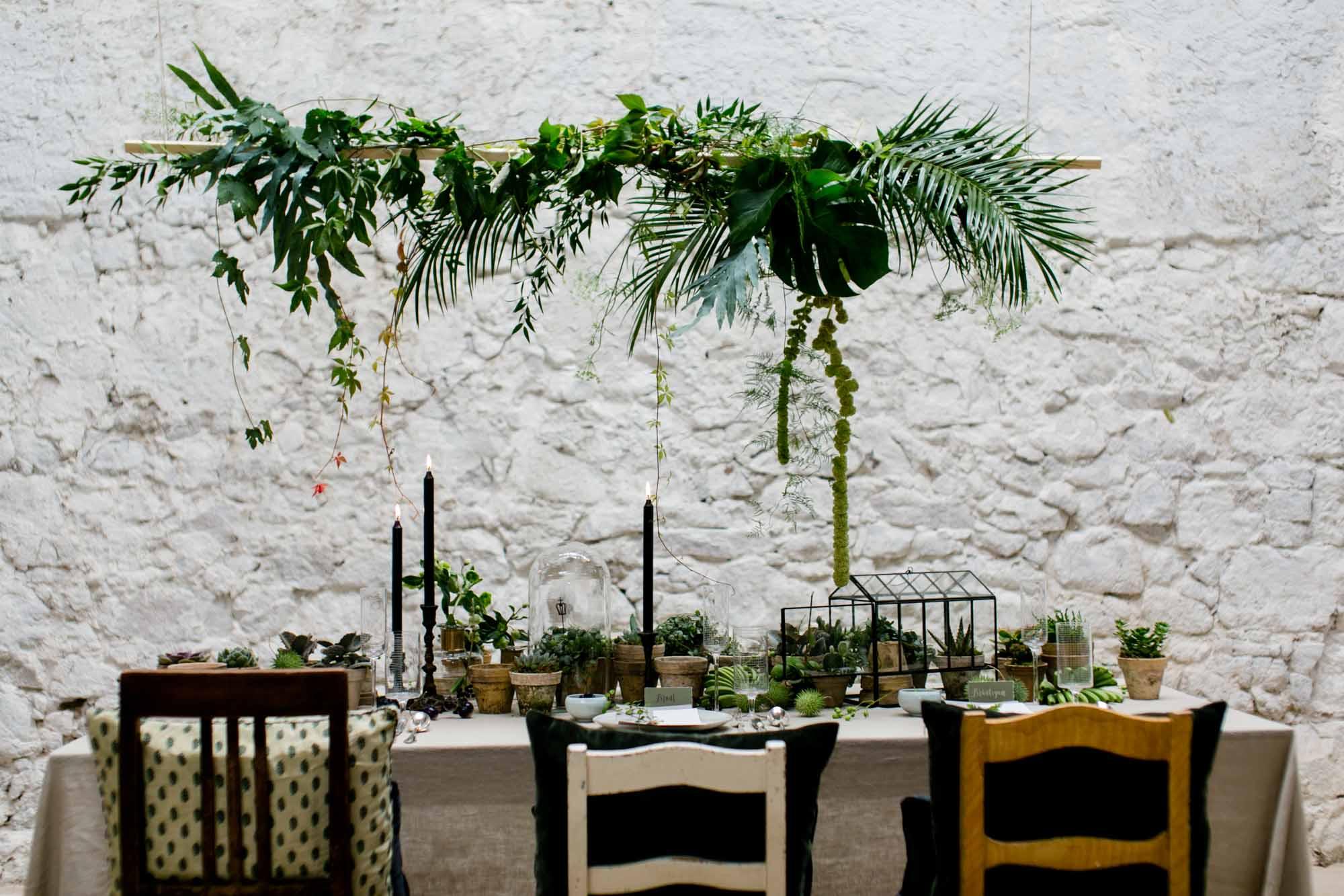 Tischdekoration bei Hochzeit im Göhrischgut
