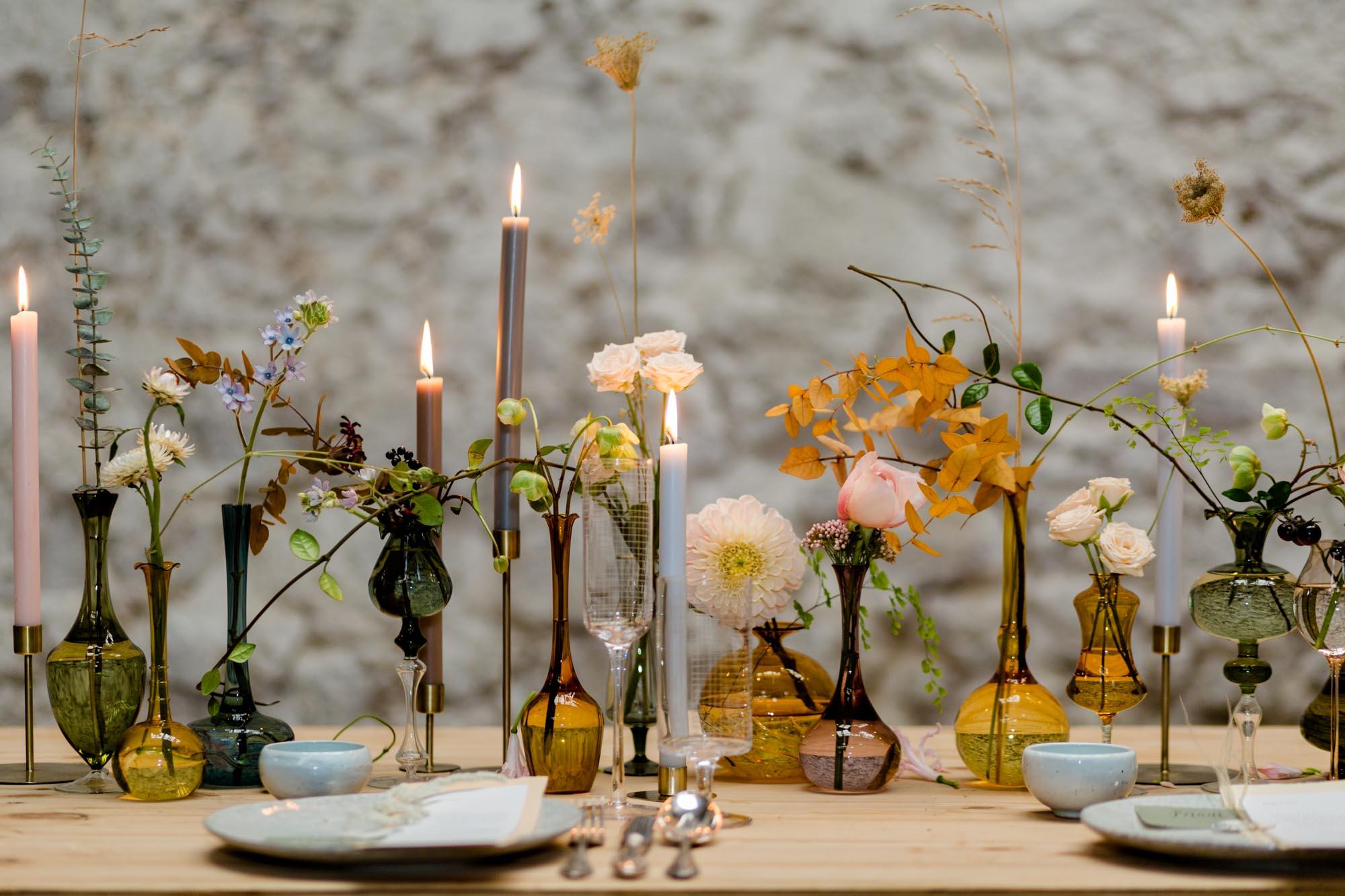 Tischdeko bei Hochzeit Göhrischgut bei Dresden