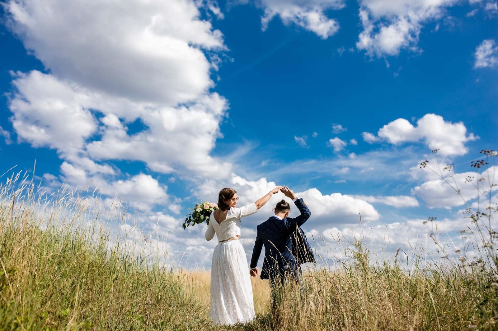 Brautpaar bei Hochzeit in Dresden